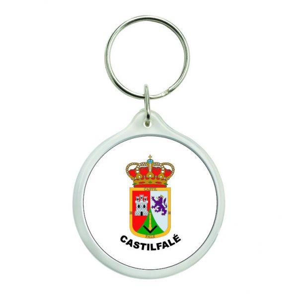 llavero redondo escudo heraldico castilfale