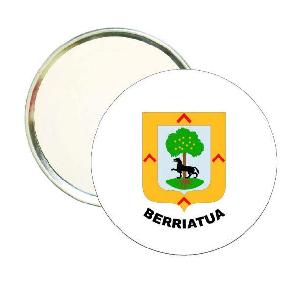 espejo redondo escudo heraldico berriatua