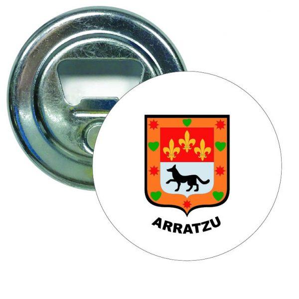abridor redondo escudo heraldico arratzu