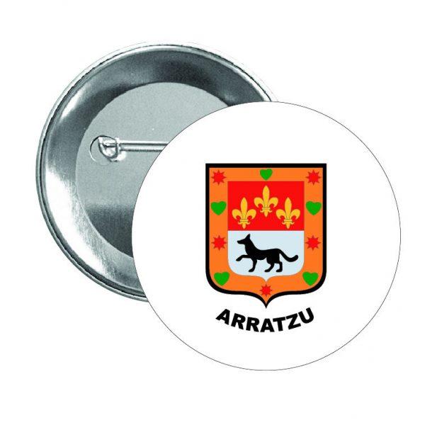 chapa escudo heraldico arratzu