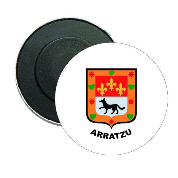 iman redondo escudo heraldico arratzu