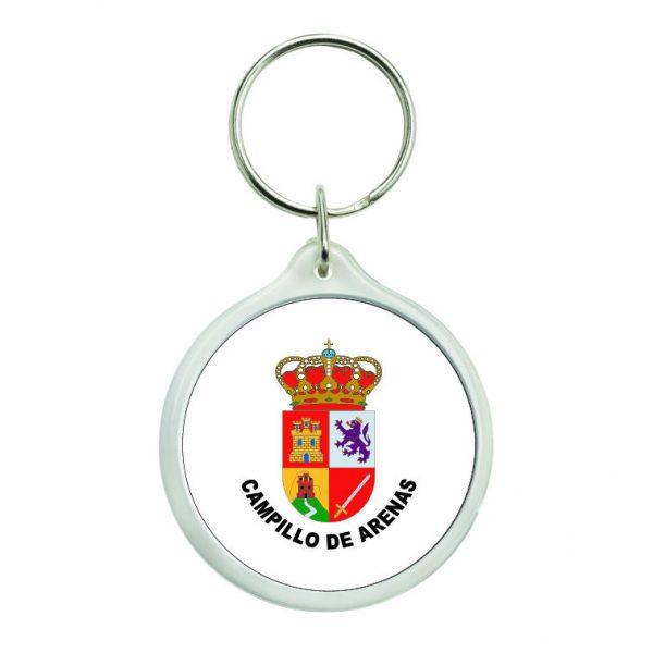 llavero redondo escudo heraldico campillo de arenas