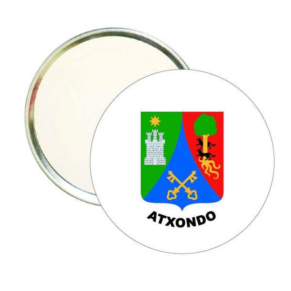 espejo redondo escudo heraldico atxondo