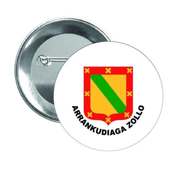 chapa escudo heraldico arrankudiaga zollo