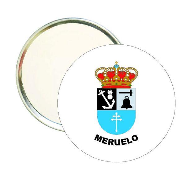 espejo redondo escudo heraldico meruelo