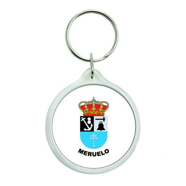 llavero redondo escudo heraldico meruelo