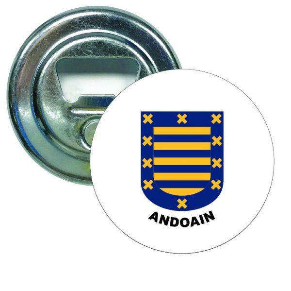abridor redondo escudo heraldico andoain