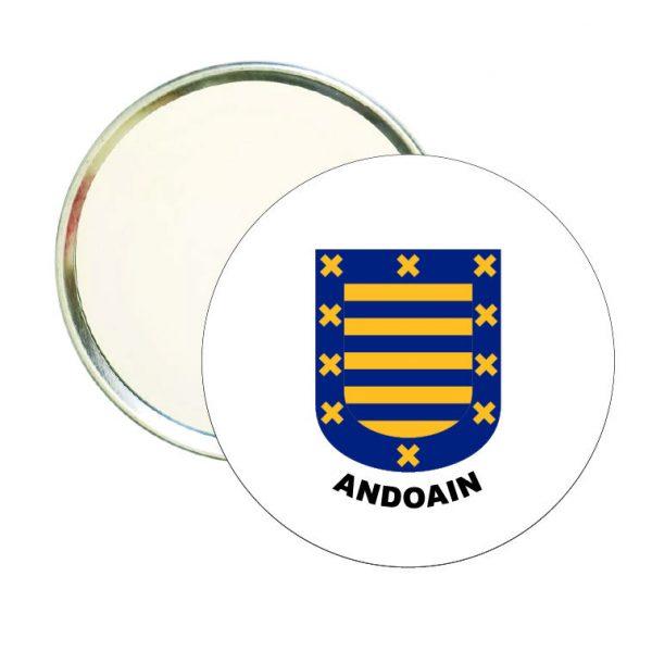 espejo redondo escudo heraldico andoain