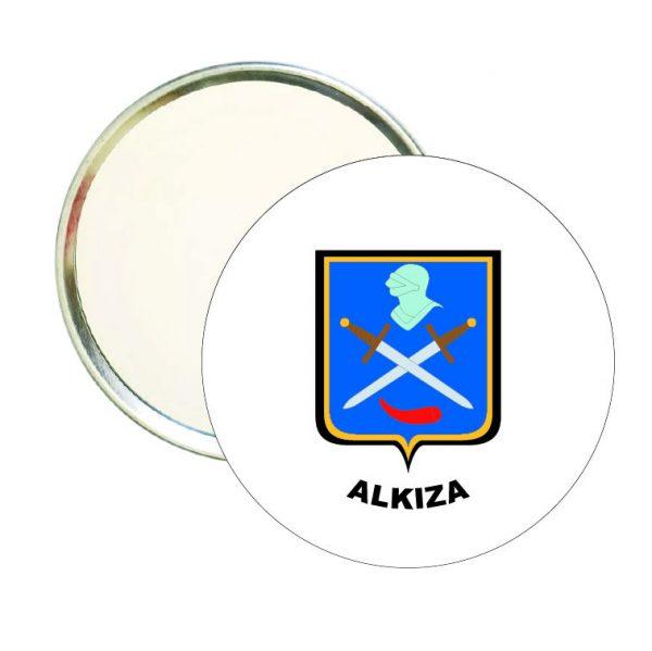 espejo redondo escudo heraldico alkiza