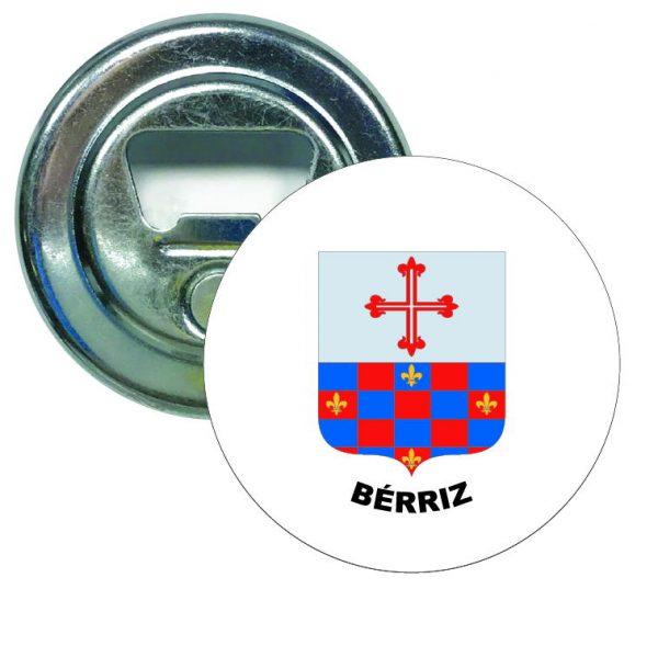 abridor redondo escudo heraldico berriz