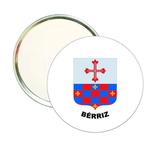 espejo redondo escudo heraldico berriz