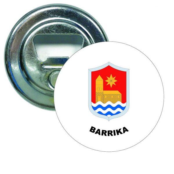 abridor redondo escudo heraldico barrika