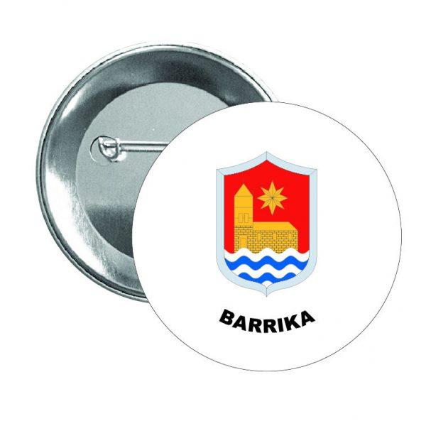 chapa escudo heraldico barrika