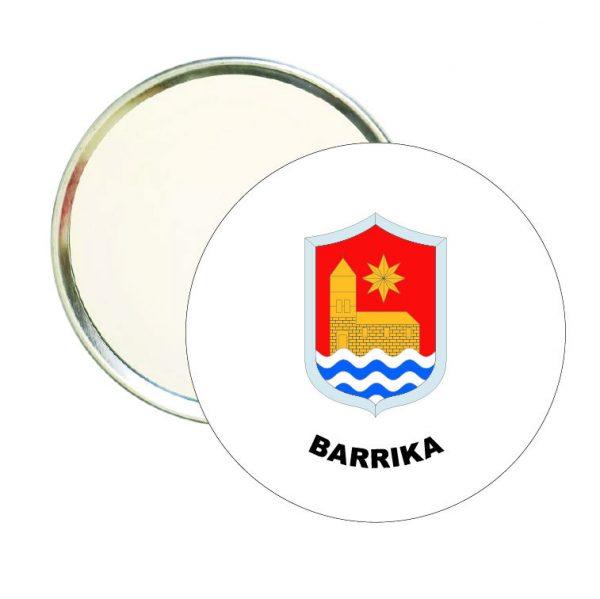 espejo redondo escudo heraldico barrika