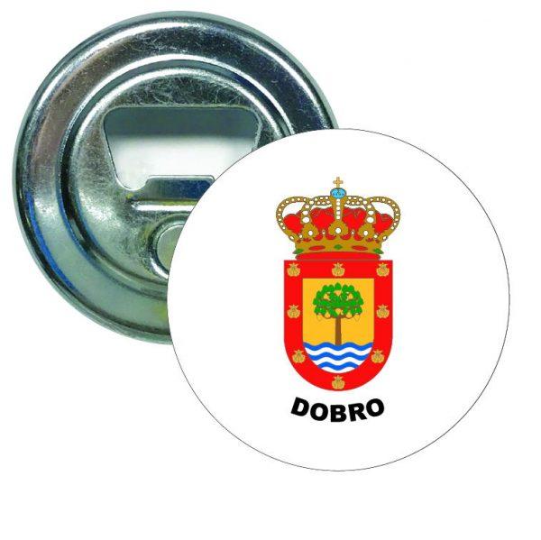 abridor redondo escudo heraldico dobro