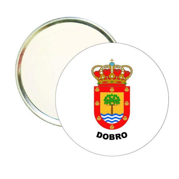 espejo redondo escudo heraldico dobro
