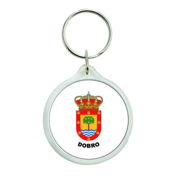llavero redondo escudo heraldico dobro