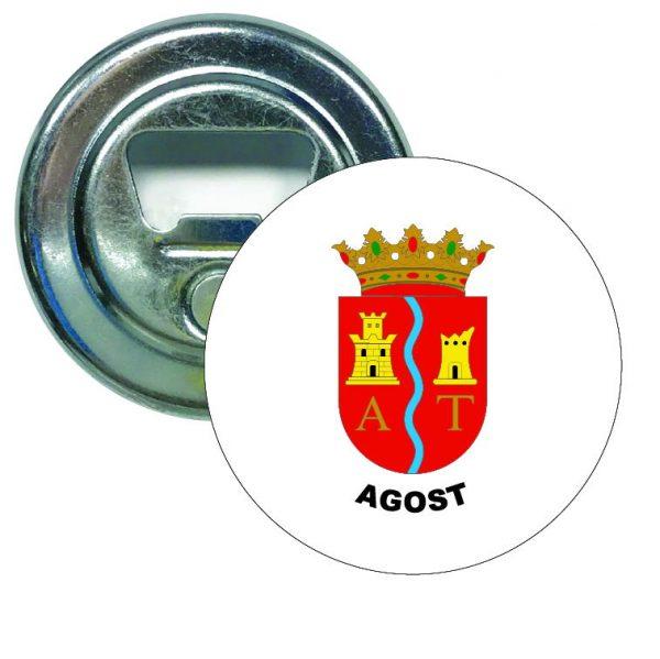 abridor redondo escudo heraldico agost