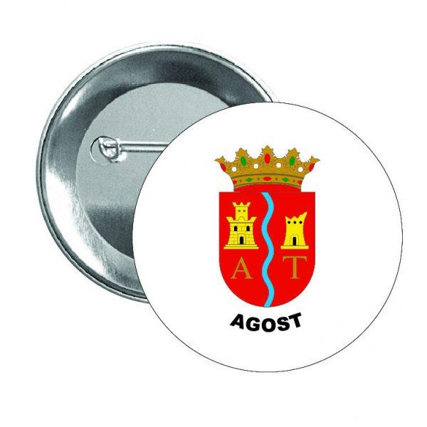chapa escudo heraldico agost