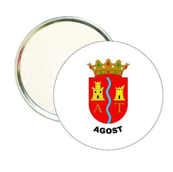 espejo redondo escudo heraldico agost