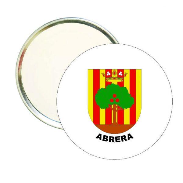 espejo redondo escudo heraldico abrera