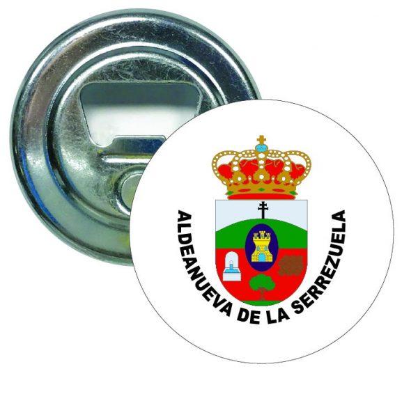abridor redondo escudo heraldico aldeanueva de la serrezuela