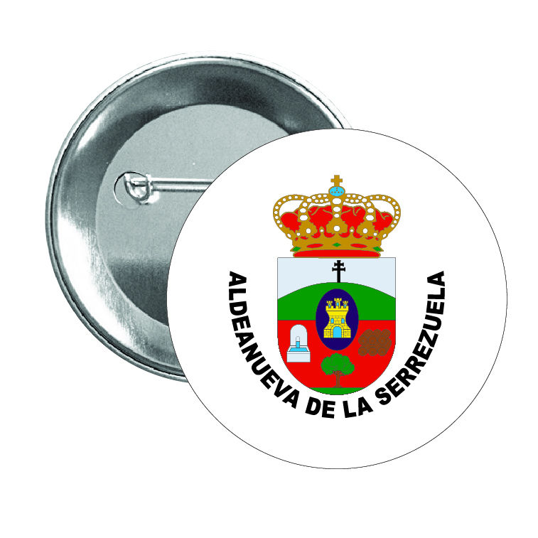chapa escudo heraldico aldeanueva de la serrezuela