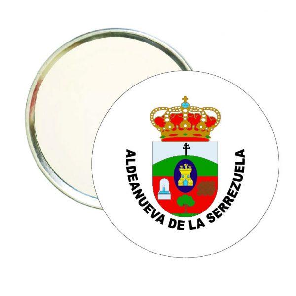 espejo redondo escudo heraldico aldeanueva de la serrezuela