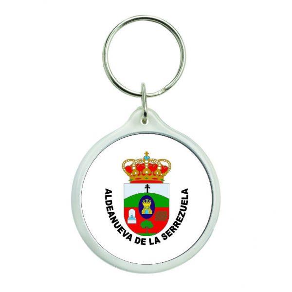 llavero redondo escudo heraldico aldeanueva de la serrezuela