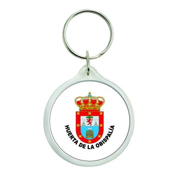 llavero redondo escudo heraldico huerta de la obispalia