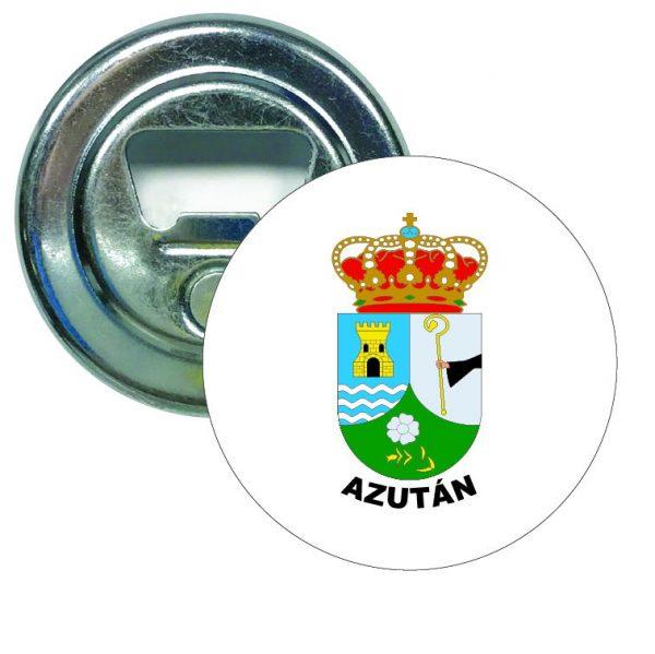 abridor redondo escudo heraldico azutan