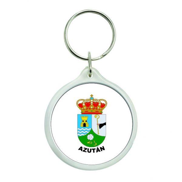 llavero redondo escudo heraldico azutan