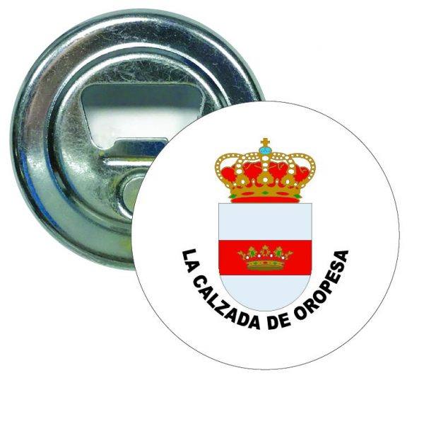 abridor redondo escudo heraldico la calzada de oropesa