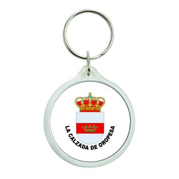 llavero redondo escudo heraldico la calzada de oropesa