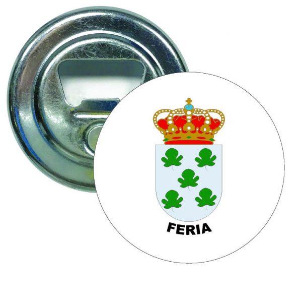abridor redondo escudo heraldico feria