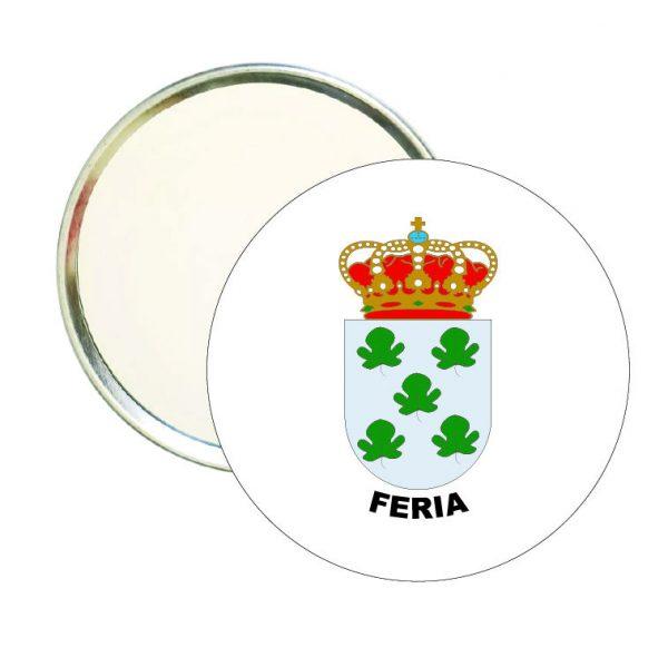 espejo redondo escudo heraldico feria