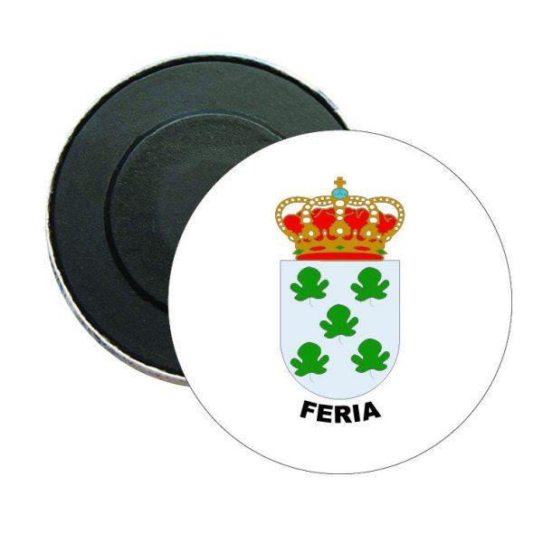 iman redondo escudo heraldico feria