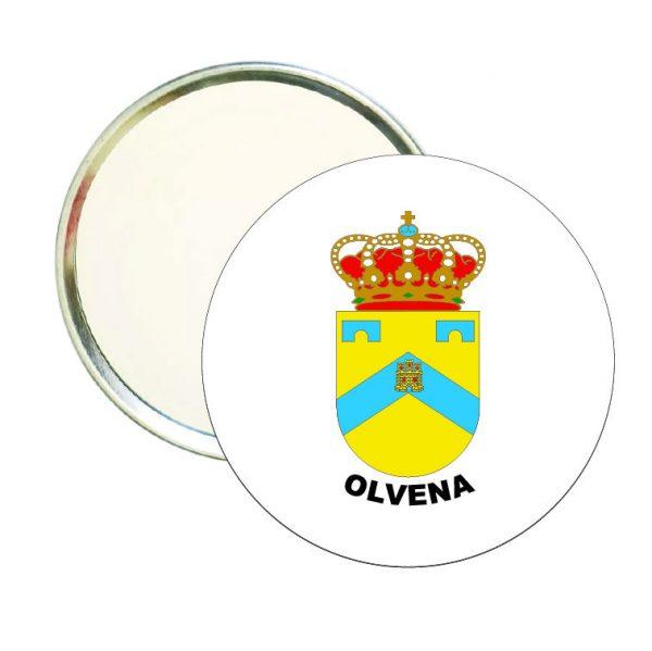 espejo redondo escudo heraldico olvena