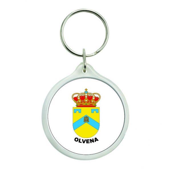 llavero redondo escudo heraldico olvena