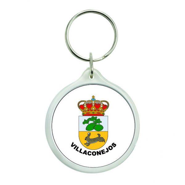 llavero redondo escudo heraldico villaconejos