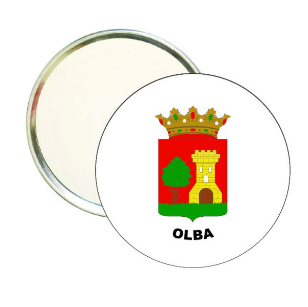 espejo redondo escudo heraldico olba