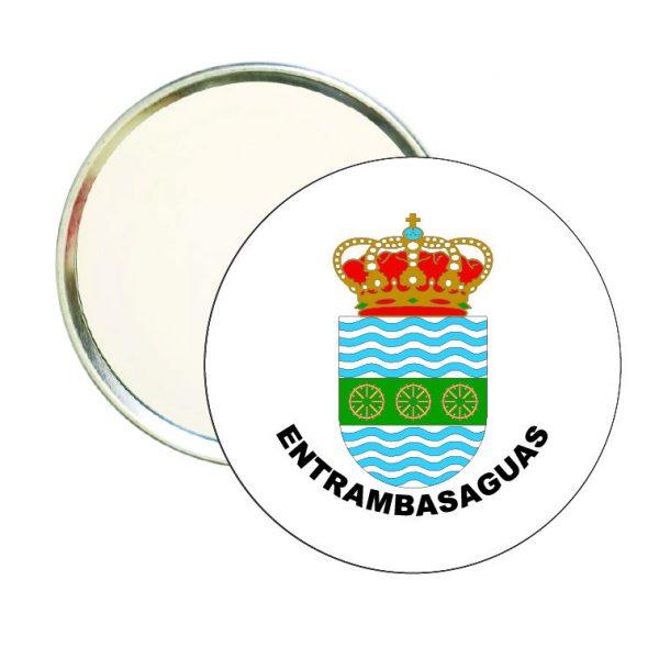 espejo redondo escudo heraldico entrambasaguas