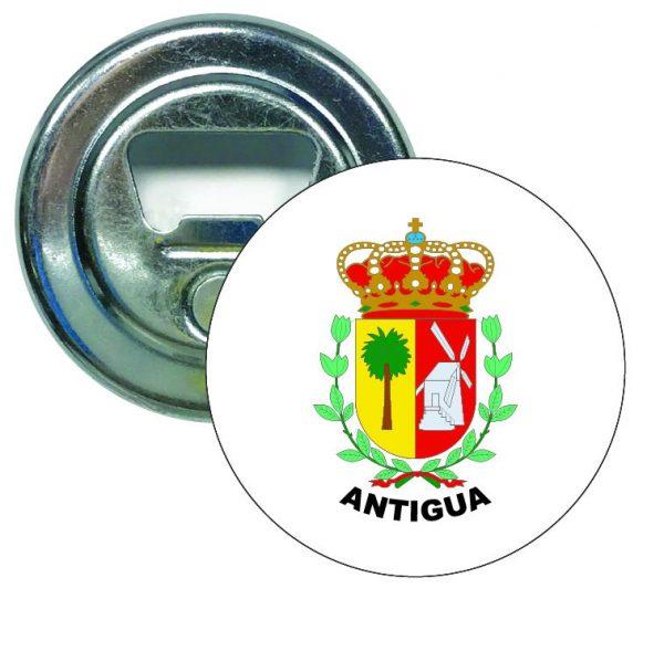 abridor redondo escudo heraldico antigua