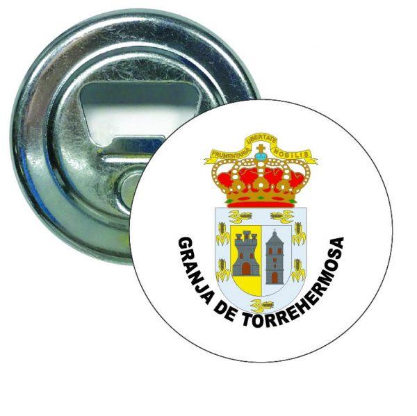 abridor redondo escudo heraldico granja de torrehermosa