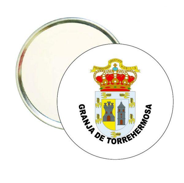 espejo redondo escudo heraldico granja de torrehermosa