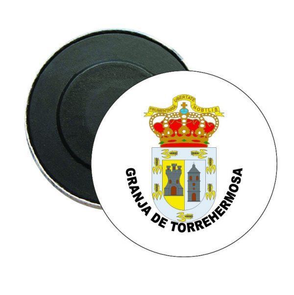 iman redondo escudo heraldico granja de torrehermosa