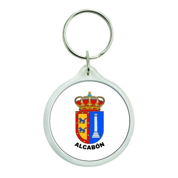 llavero redondo escudo heraldico alcabon