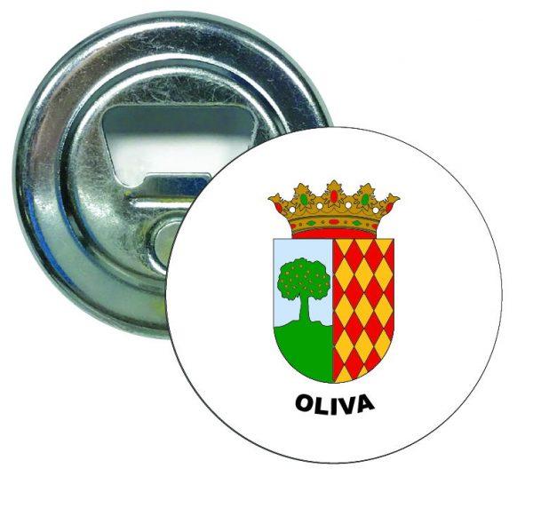 abridor redondo escudo heraldico oliva