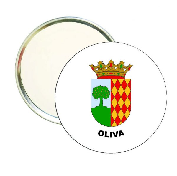 espejo redondo escudo heraldico oliva