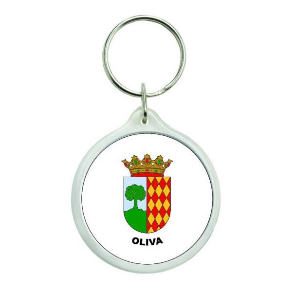 llavero redondo escudo heraldico oliva